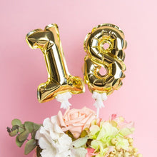 Load image into Gallery viewer, Small Aluminium Number Balloon Cake Topper-1st Birthday, Numbers-Gold 1-Cheery Toppers