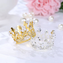 Load image into Gallery viewer, Classic Princess Crown (Silver or Gold)-Bat Mitzvah, Princess, Princess Baby Shower, Quinceanera, Sweet Sixteen-Gold-Cheery Toppers