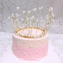 Load image into Gallery viewer, Pearl Crown Princess Cake Topper-Bat Mitzvah, Princess, Princess Baby Shower, Quinceanera, Sweet Sixteen-Cheery Toppers