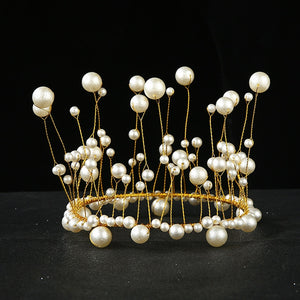 Pearl Crown Princess Cake Topper-Bat Mitzvah, Princess, Princess Baby Shower, Quinceanera, Sweet Sixteen-Cheery Toppers
