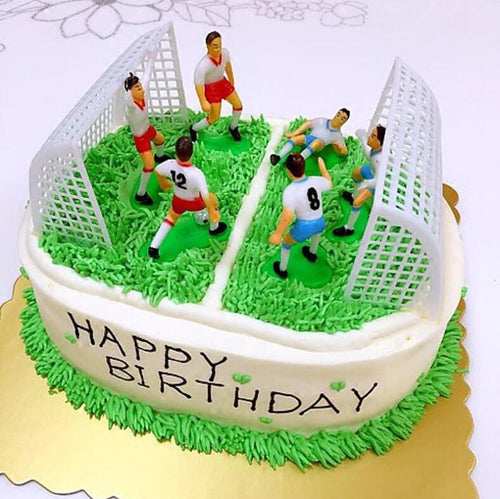 Create You Own Game! Soccer Game Cake Toppers with Players and Goal Nets (1 set)-Bar Mitzvah, Sports-Cheery Toppers