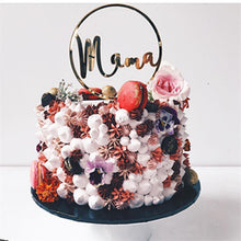 "Load image into Gallery viewer, ""Mama"" Circular Cake Topper"