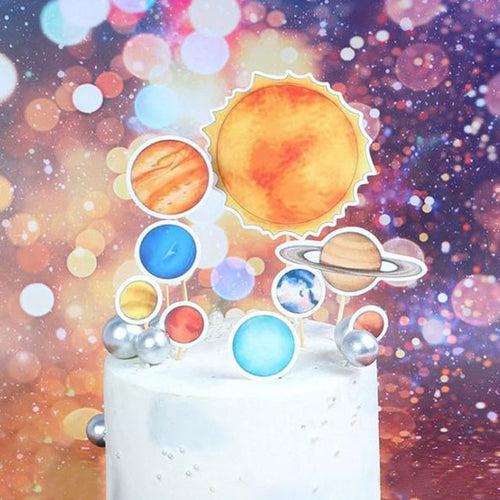 Outer Space/Planets Cake Topper-Space-Cheery Toppers