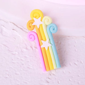 Magical Rainbow Cake Toppers-unicorn, unicorn baby shower-Shooting Stars-Cheery Toppers