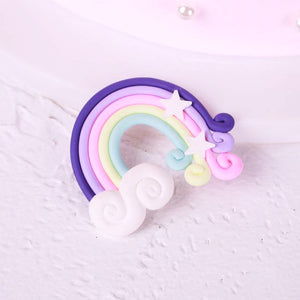 Magical Rainbow Cake Toppers-unicorn, unicorn baby shower-Purple Rainbow-Cheery Toppers