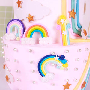Magical Rainbow Cake Toppers-unicorn, unicorn baby shower-Classic Rainbow-Cheery Toppers