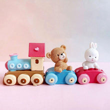 Load image into Gallery viewer, Birthday Train with Bear and Bunny! Baby's 1st Birthday Cake Toppers-1st birthday-Bear and Bunny Train-Cheery Toppers
