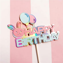 Load image into Gallery viewer, Birthday Train with Bear and Bunny! Baby's 1st Birthday Cake Toppers-1st birthday-Bunny Happy Birthday-Cheery Toppers