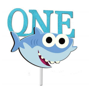 """One"" Year Old Baby Shark Cake Topper-1st Birthday, Shark-Cheery Toppers"