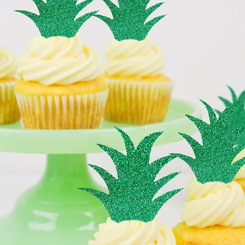 Create Your Pineapple Cupcake Toppers (Set of 10)-Bachelorette, Cupcake Baby Shower, Cupcake Birthday, Tropical-Cheery Toppers