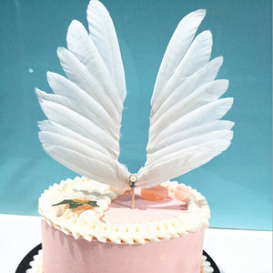 Elegant Wings Cake Topper-Bat Mitzvah, fairy, Quinceanera, Unicorn, Unicorn Baby Shower-Cheery Toppers