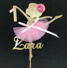 "Load image into Gallery viewer, Custom Ballerina Cake Topper-1st birthday, ballerina, custom birthday-8"" wide-Cheery Toppers"