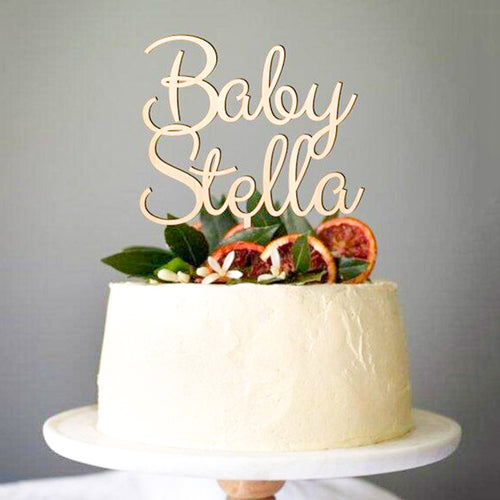 Personalized Baby Name Cake Topper