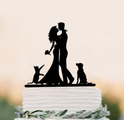 Mixed Style Black Acrylic (maryam)-Family Toppers, Silhouettes-Cheery Toppers