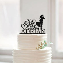 Load image into Gallery viewer, Personalized Romantic Wedding Cake Topper with Last Name