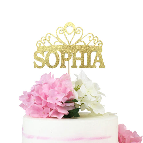 Custom Princess Tiara Cake Topper-Bachelorette, Bat Mitzvah, custom baby shower, custom birthday, Princess, Quinceanera, Sweet Sixteen-Cheery Toppers