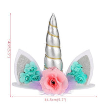 Load image into Gallery viewer, Create Your Unicorn Cake Topper (Silver)-unicorn, unicorn baby shower-Cheery Toppers