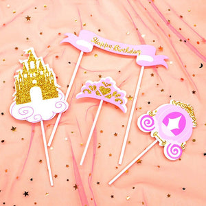 Perfectly Pink Princess Cake Topper Set-Princess-Cheery Toppers