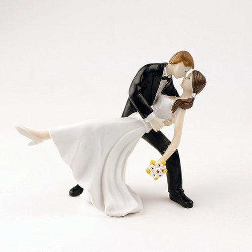Sensual Dip-Figurine Wedding Cake Topper-Classic Wedding, Light Skin-Cheery Toppers