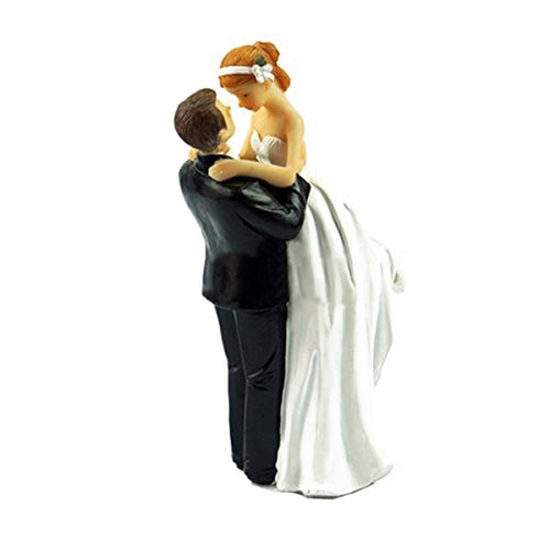 Romantic Gaze-Figurine Wedding Cake Topper-Classic Wedding, Light Skin-Cheery Toppers
