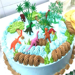 16 Piece Realistic Dinosaur Cake Topper-Dinosaur-Cheery Toppers