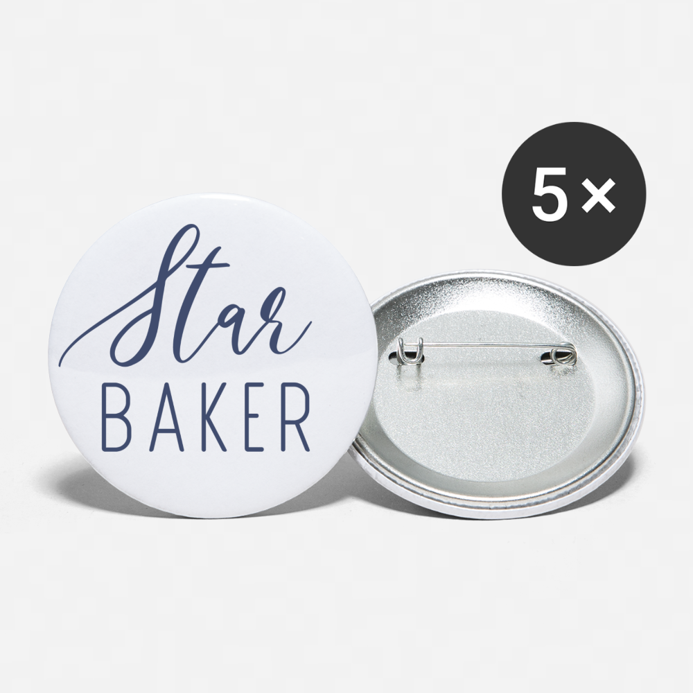 Star Baker - Buttons large 2.2'' (5-pack)-Buttons large 2.2''/56 mm (5-pack) | Buttonworldshop-Cheery Toppers