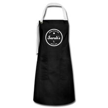 Load image into Gallery viewer, Personalized Badge Baker's Artisan Apron - black/white