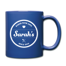 Load image into Gallery viewer, Personalized Badge Logo Full Color Mug - royal blue