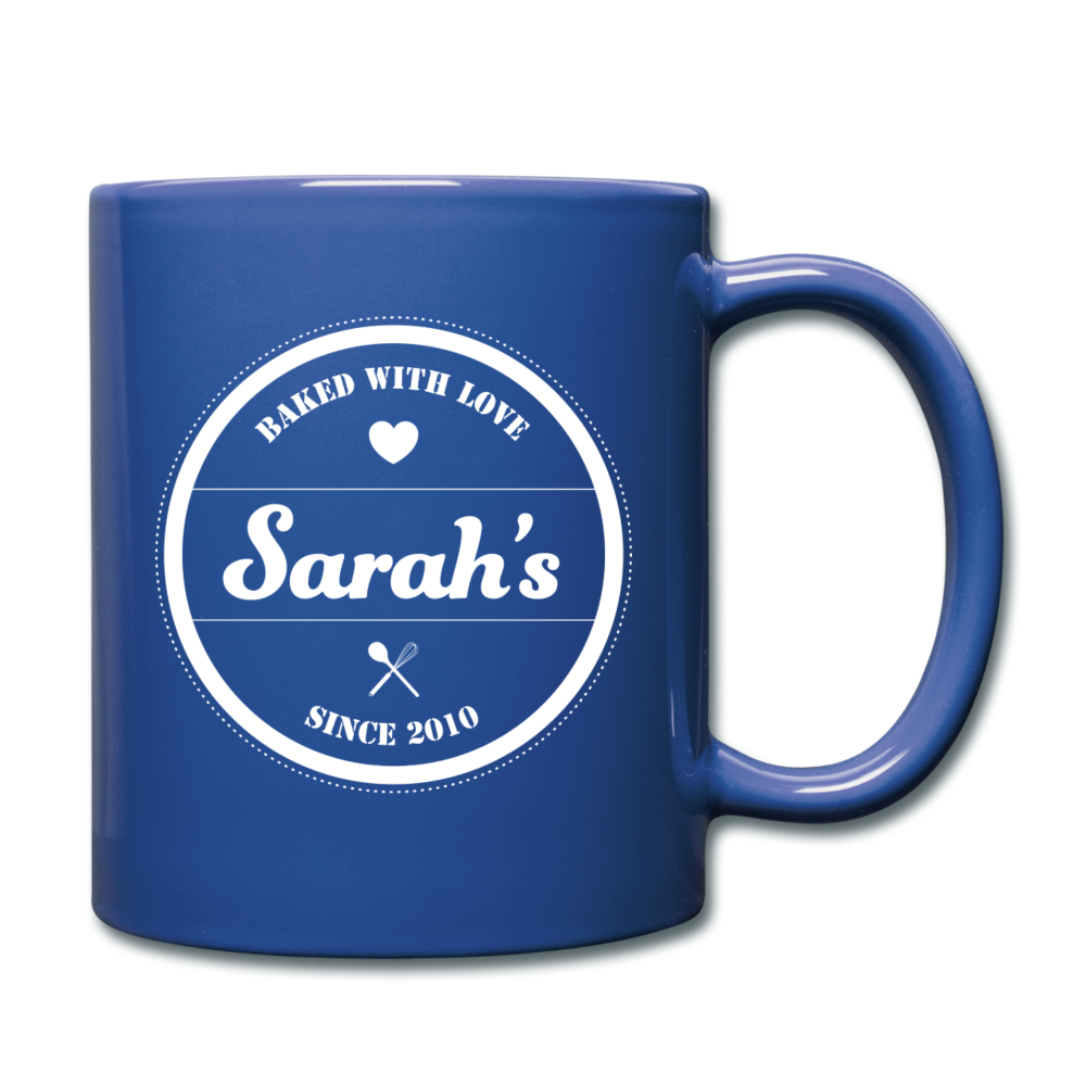 Personalized Badge Logo Full Color Mug - royal blue