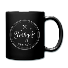 Load image into Gallery viewer, Personalized Badge Logo Full Color Mug - black