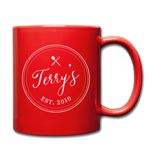 Load image into Gallery viewer, Personalized Badge Logo Full Color Mug - red