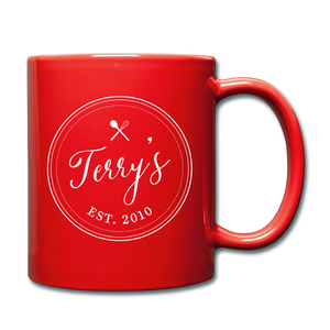 Personalized Badge Logo Full Color Mug - red