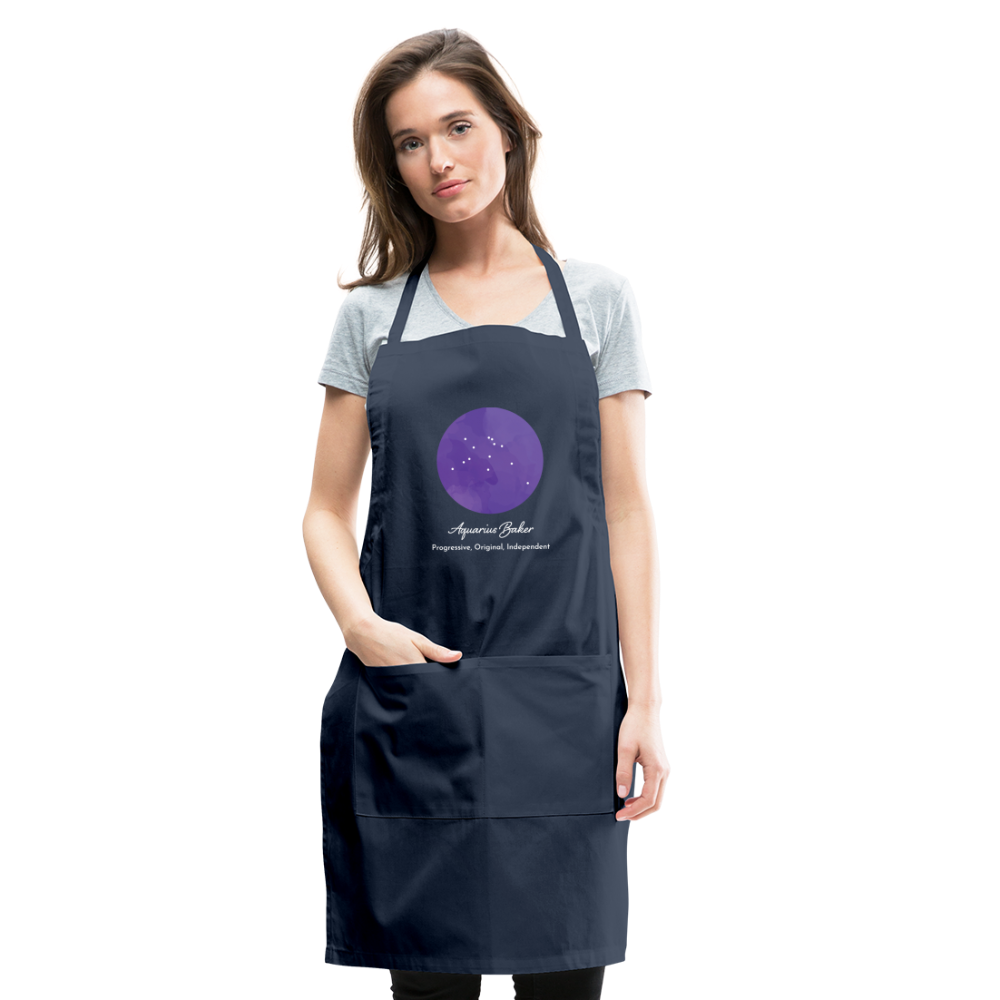 Aquarius Baker - Constellation Adjustable Apron - navy
