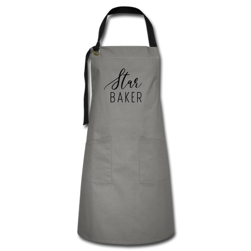 Star Baker Artisan Apron (Grey)-Artisan Apron | Spreadshirt 1429-Cheery Toppers