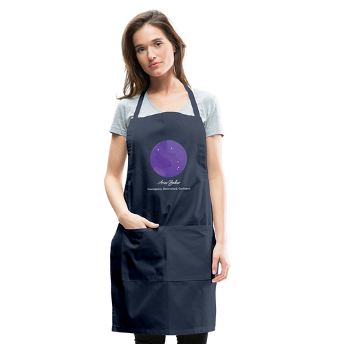 Aries Baker - Constellation Adjustable Apron - navy