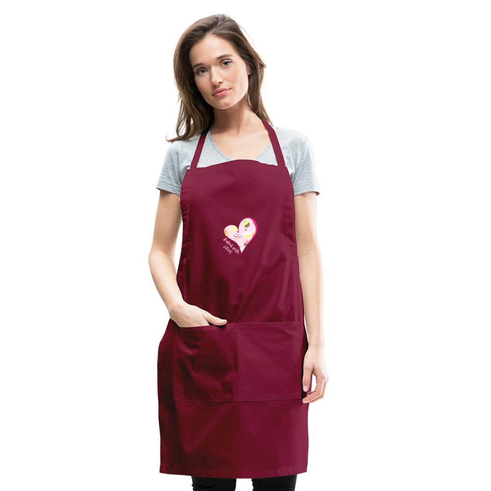 Baked with Love Adjustable Apron-Adjustable Apron | Spreadshirt 1186-Cheery Toppers