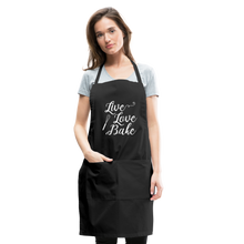 Load image into Gallery viewer, Live Love Bake Adjustable Apron - black