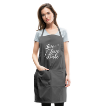 Load image into Gallery viewer, Live Love Bake Adjustable Apron - charcoal