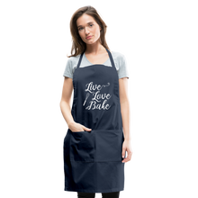 Load image into Gallery viewer, Live Love Bake Adjustable Apron - navy