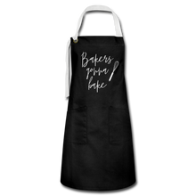 Load image into Gallery viewer, Bakers Gonna Bake Artisan Apron - black/white