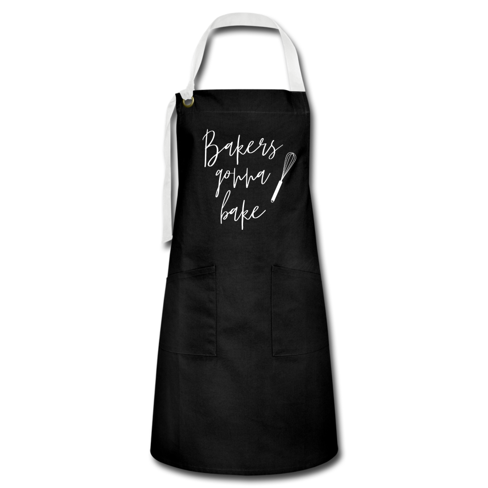 Bakers Gonna Bake Artisan Apron - black/white