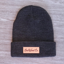 Load image into Gallery viewer, SeaWeed knit beanie hat in charcoal