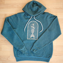 Load image into Gallery viewer, SeaWeed hoodie front view mermaid logo
