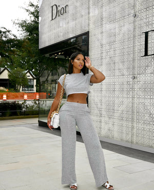 Crop Top Pant Set