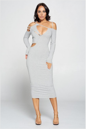 Slashed Bodycon Dress