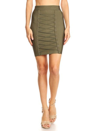 Cross Roads Bandage Skirt
