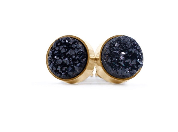 Black Ice Stud Earrings