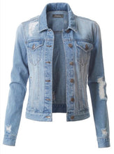 Load image into Gallery viewer, Distressed Days Jean Jacket