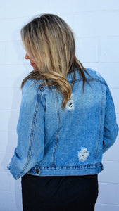 Distressed Days Jean Jacket