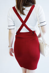 Cross stripes play skirt